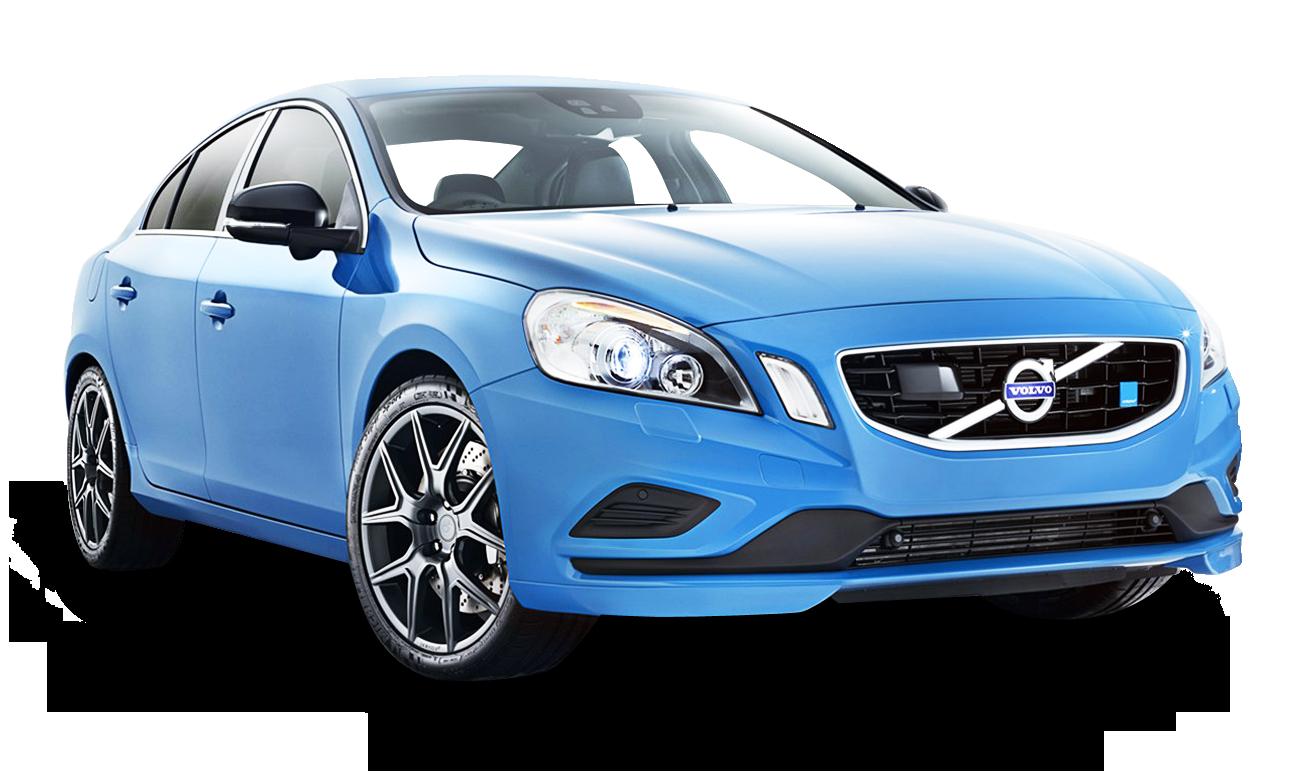 Blue Volvo S60 Polestar Car PNG Image