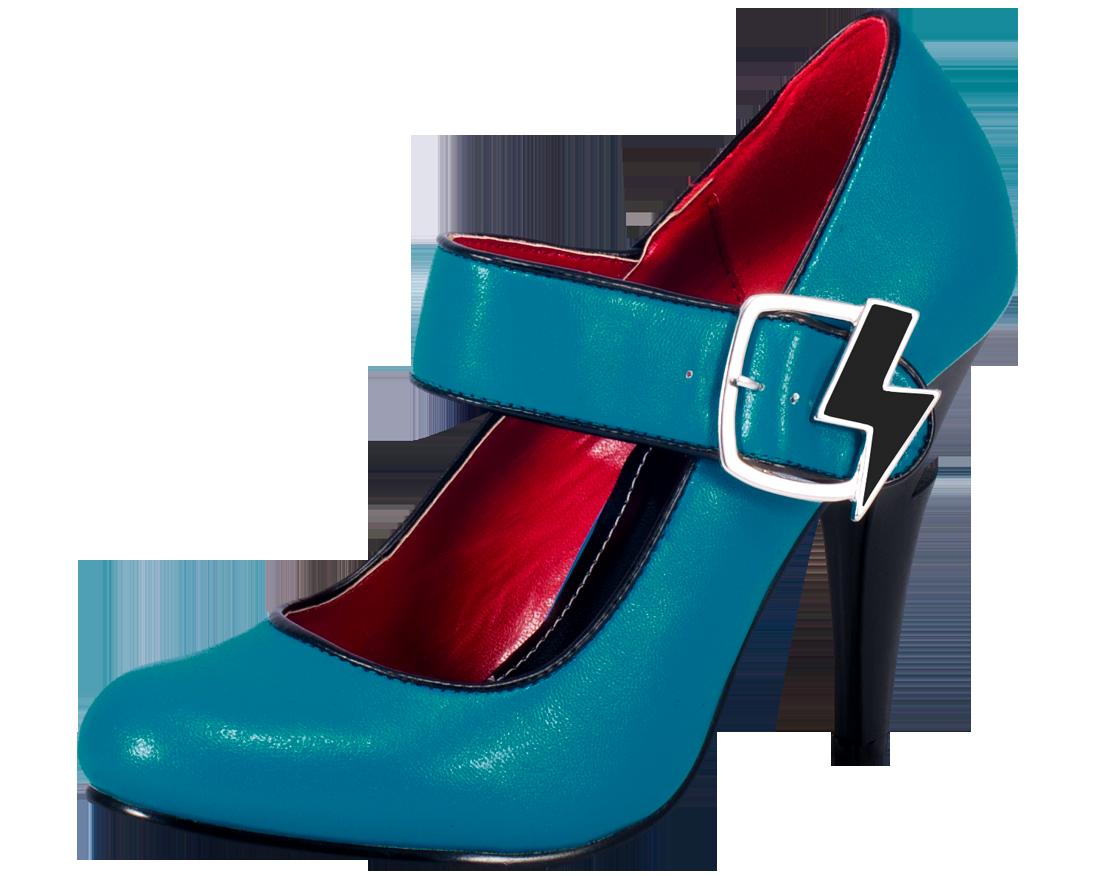 Blue Women Shoes PNG Image