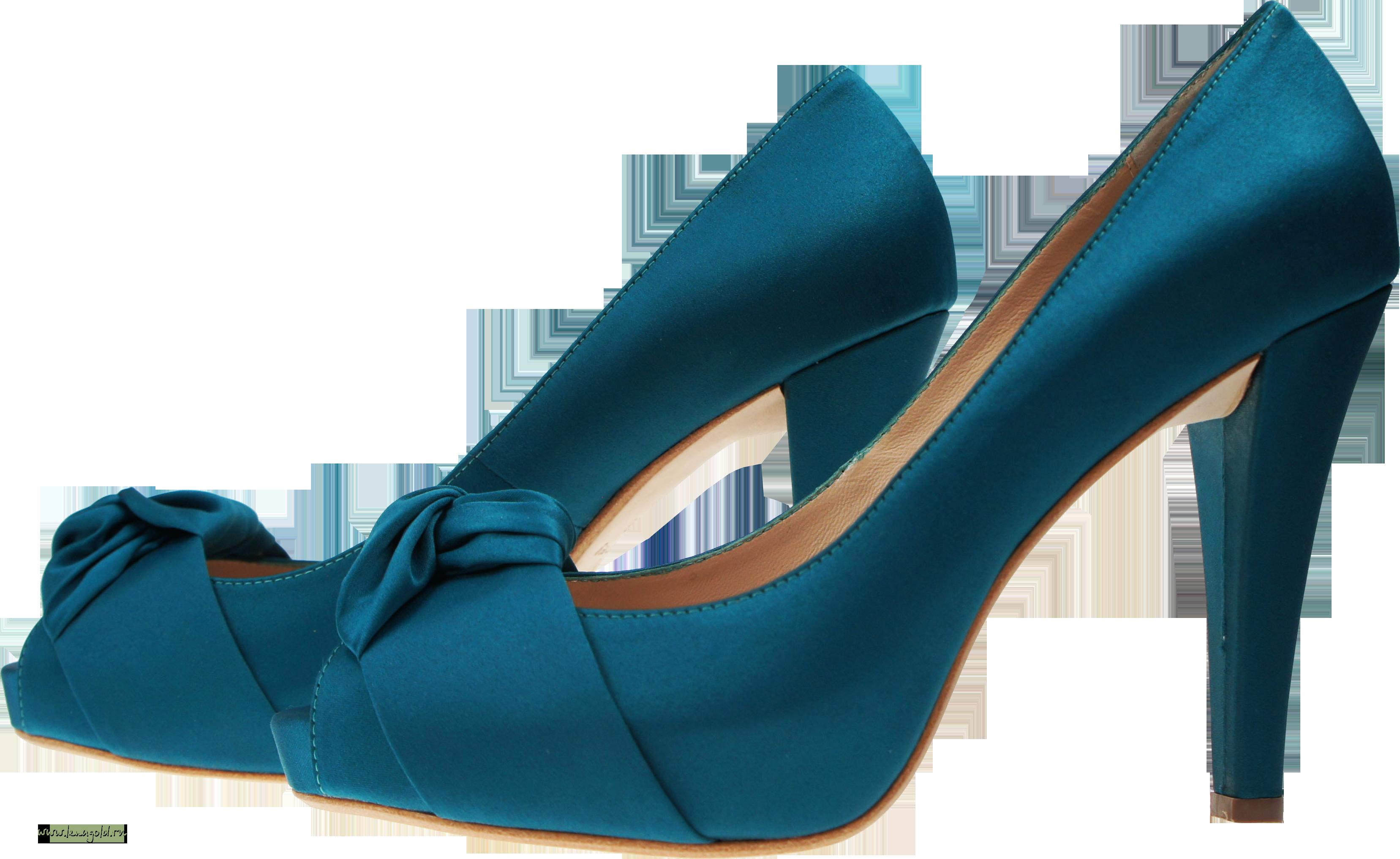 Blue Women Shoe PNG Image