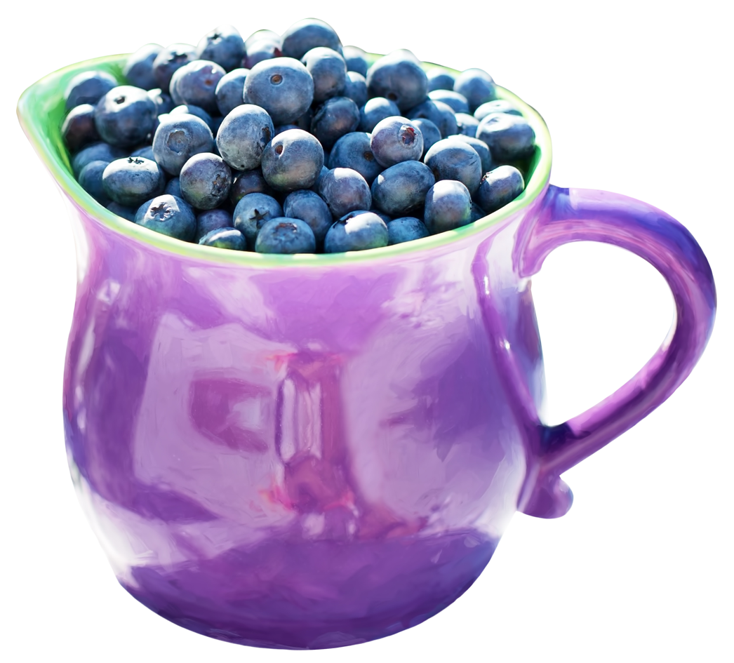 Blueberry in Mug PNG Image