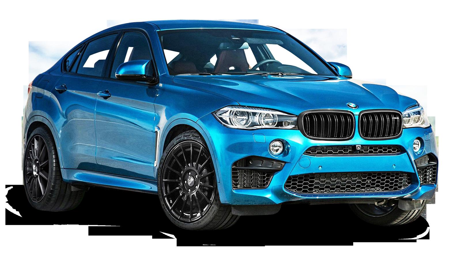BMW X6 Blue Car