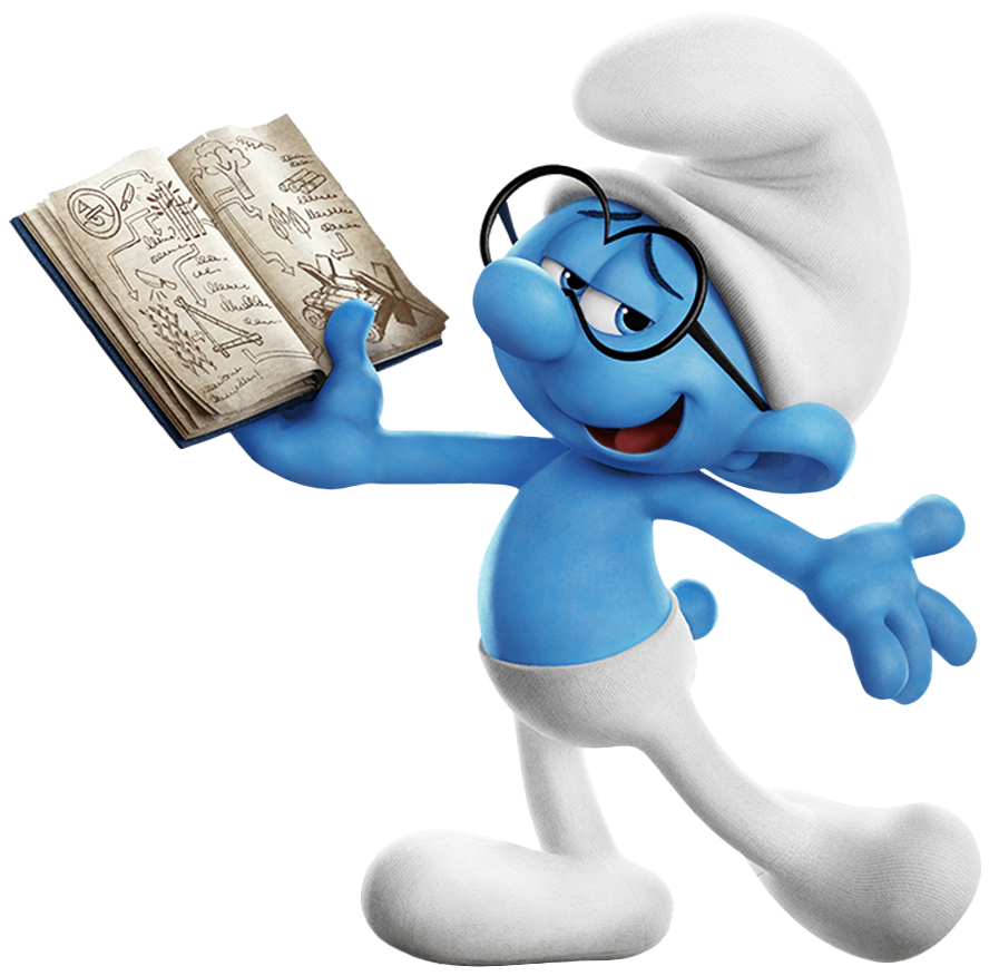 Brainy Smurf PNG Image