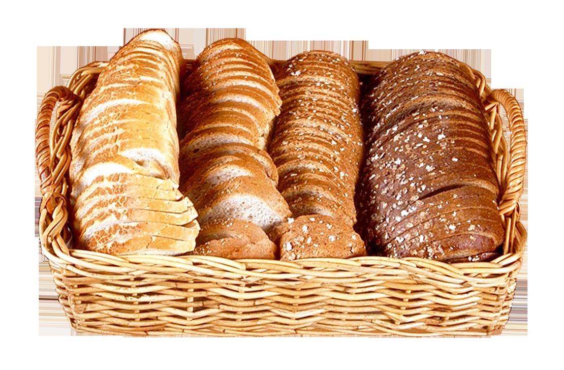 Bread Slices in Wicker Basket