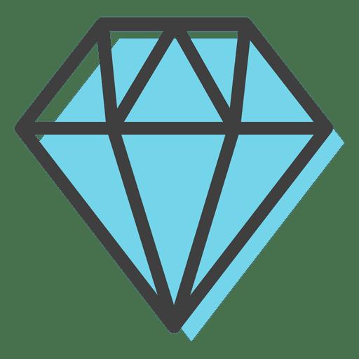 Brilliant Black Diamond PNG Image