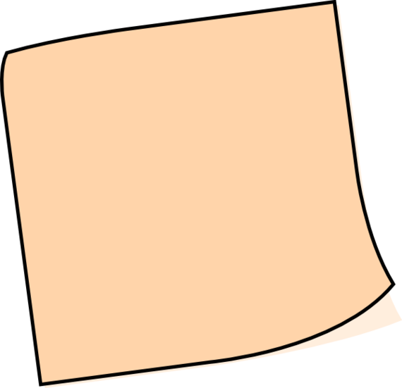 Brown Sticky Notes PNG Image