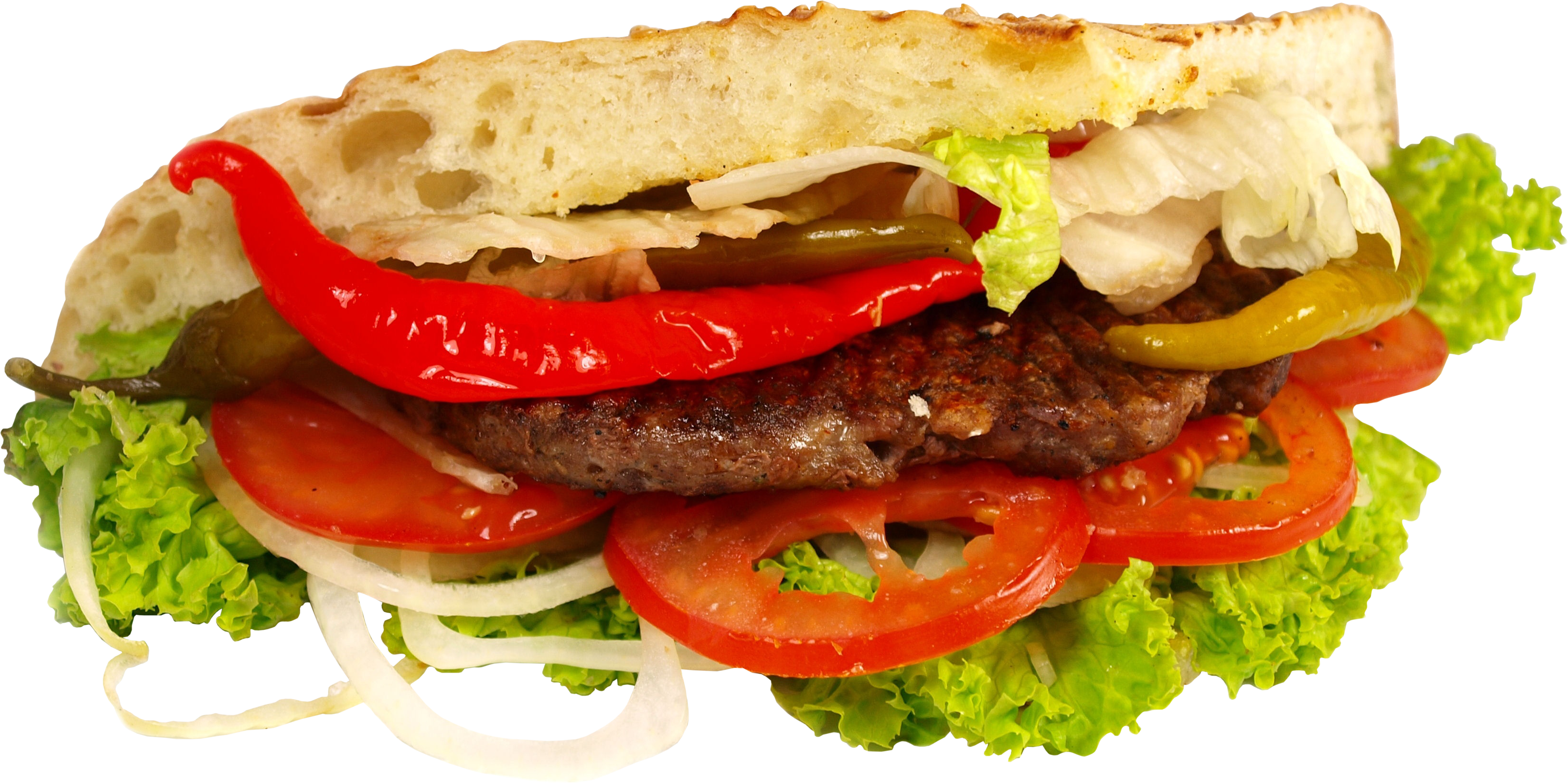Burger Oriental PNG Image