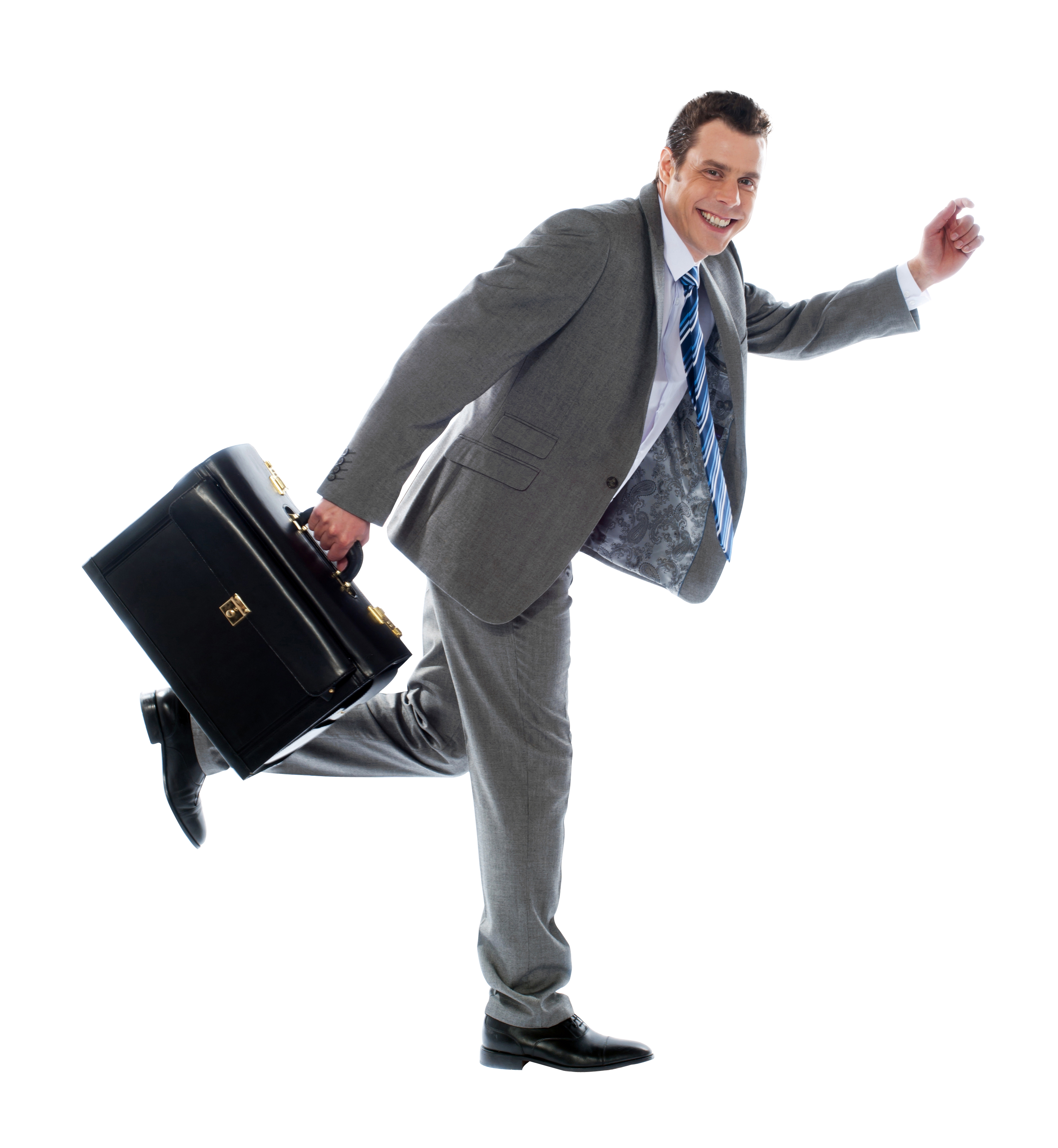 Businessman With Briefcase PNG Image
