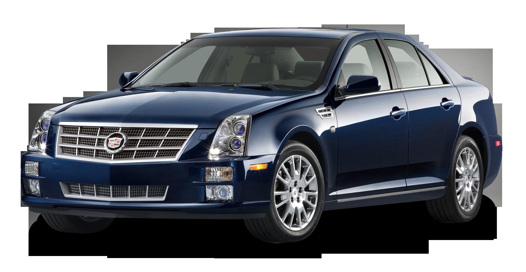 Cadillac STS Blue Car PNG Image