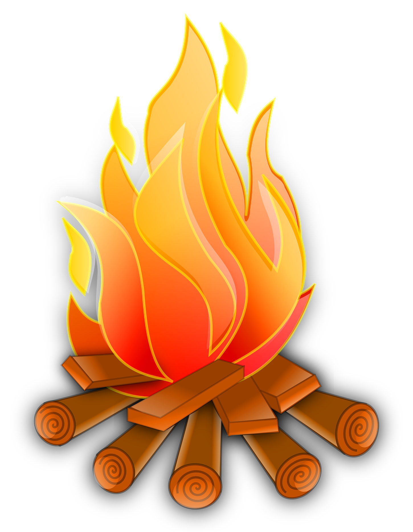 Campfire Vector PNG Image