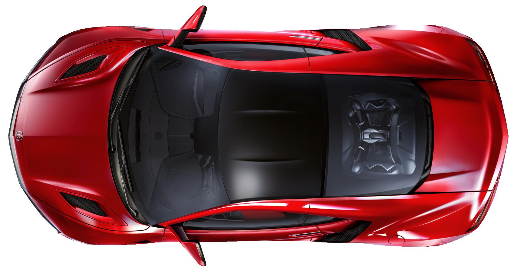 Car Top View PNG Image