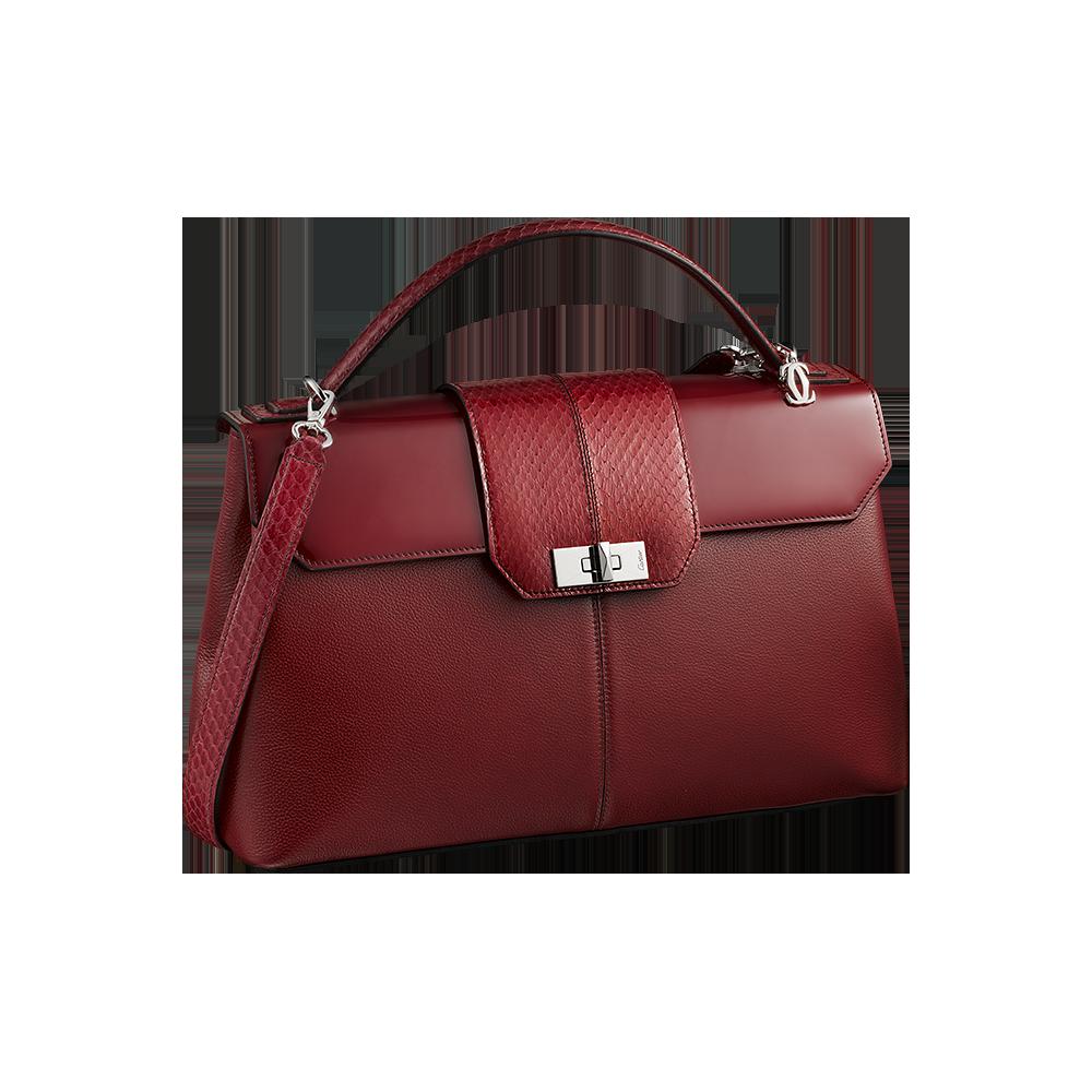Cartier Red Women Hand Bag PNG Image