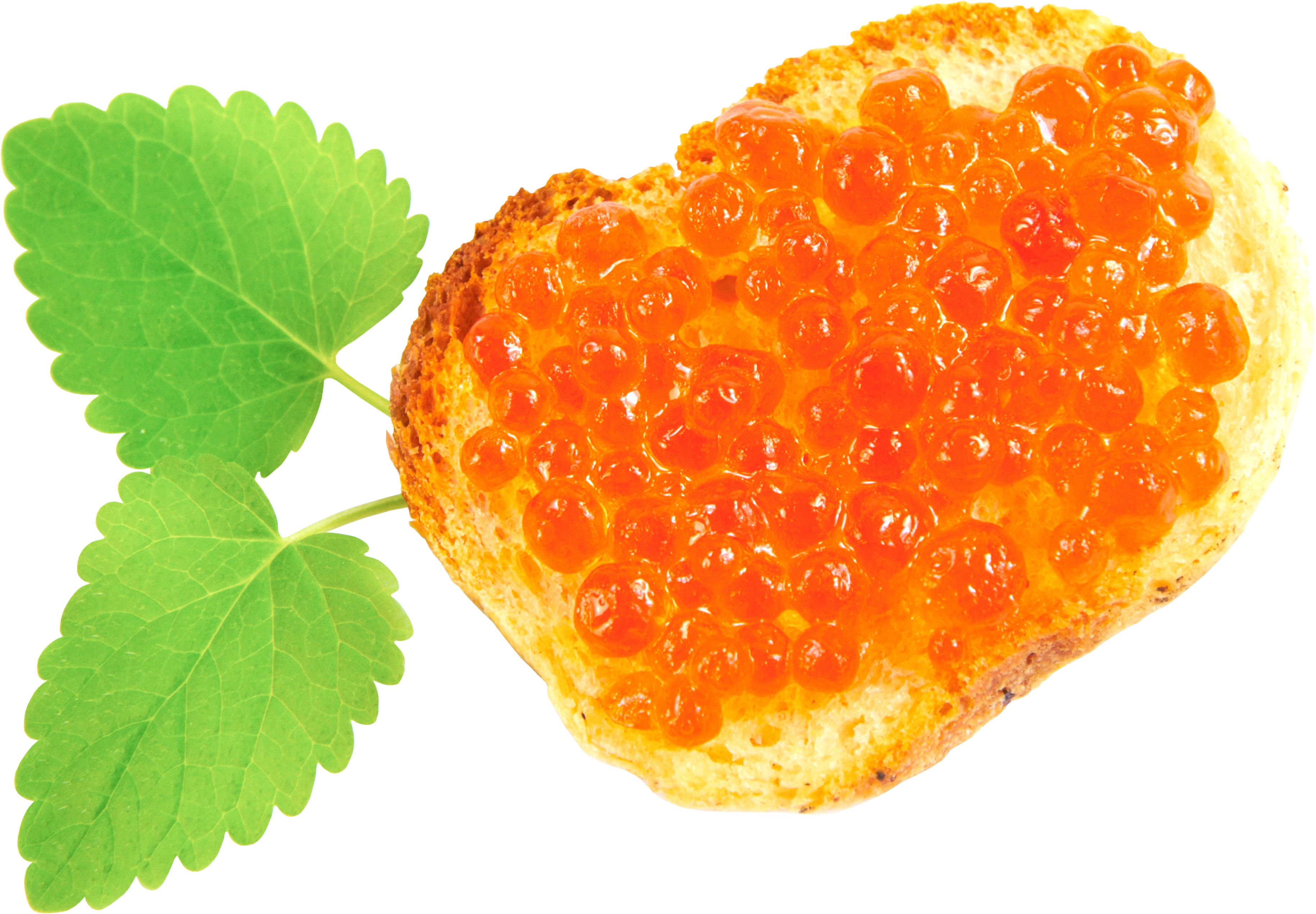 Caviar Toast PNG Image