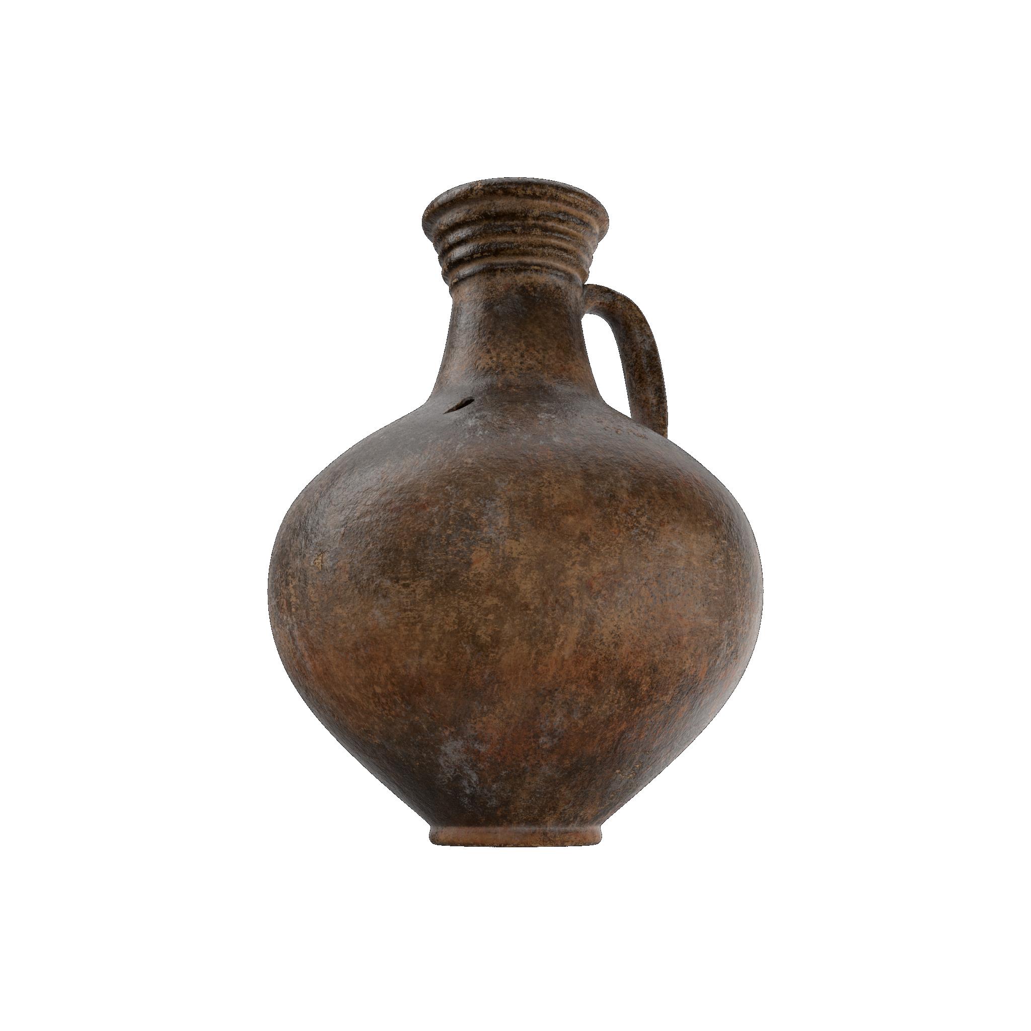 Ceramic Wine Jug PNG Image