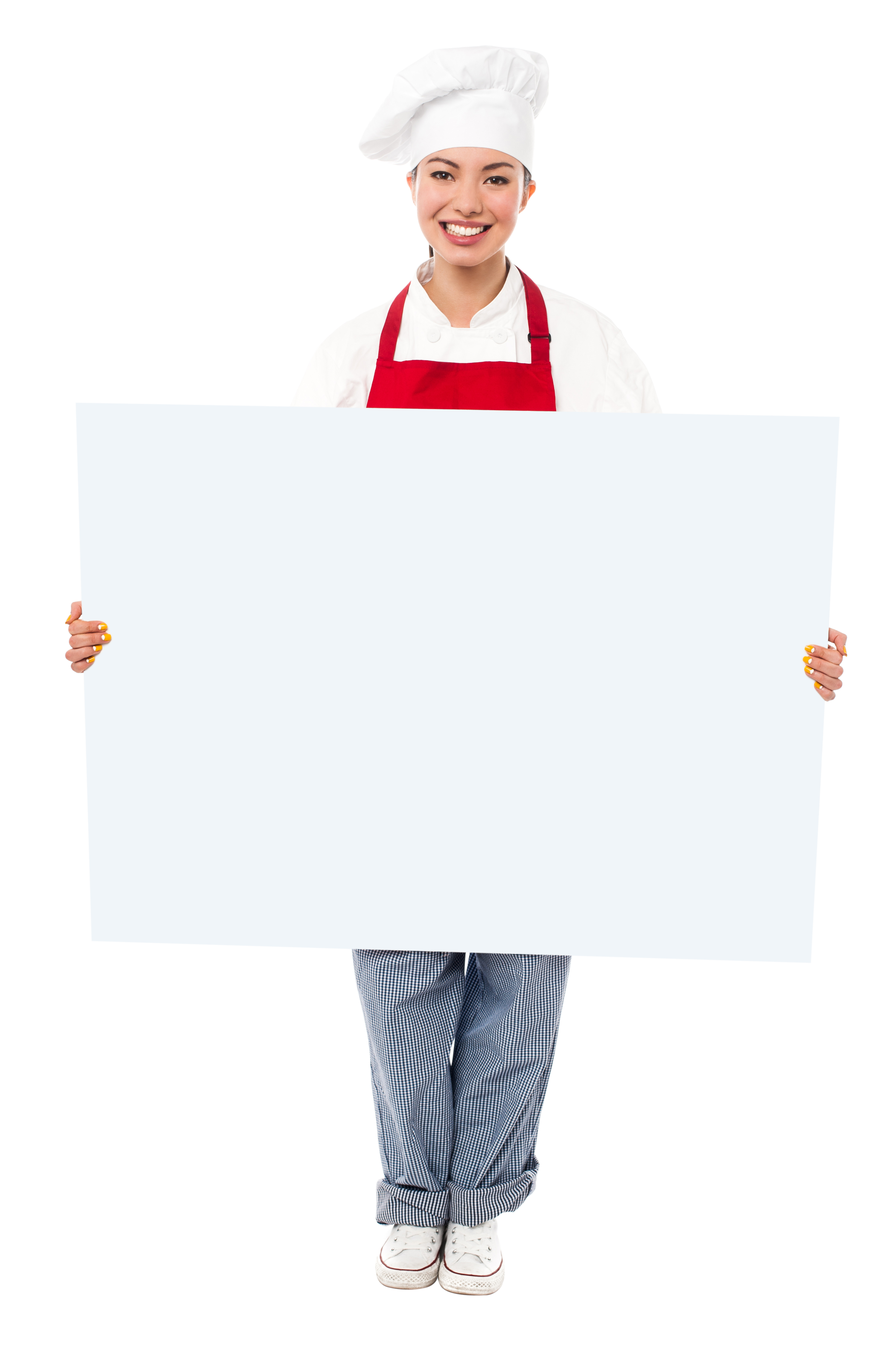 Chef Holding Banner PNG Image