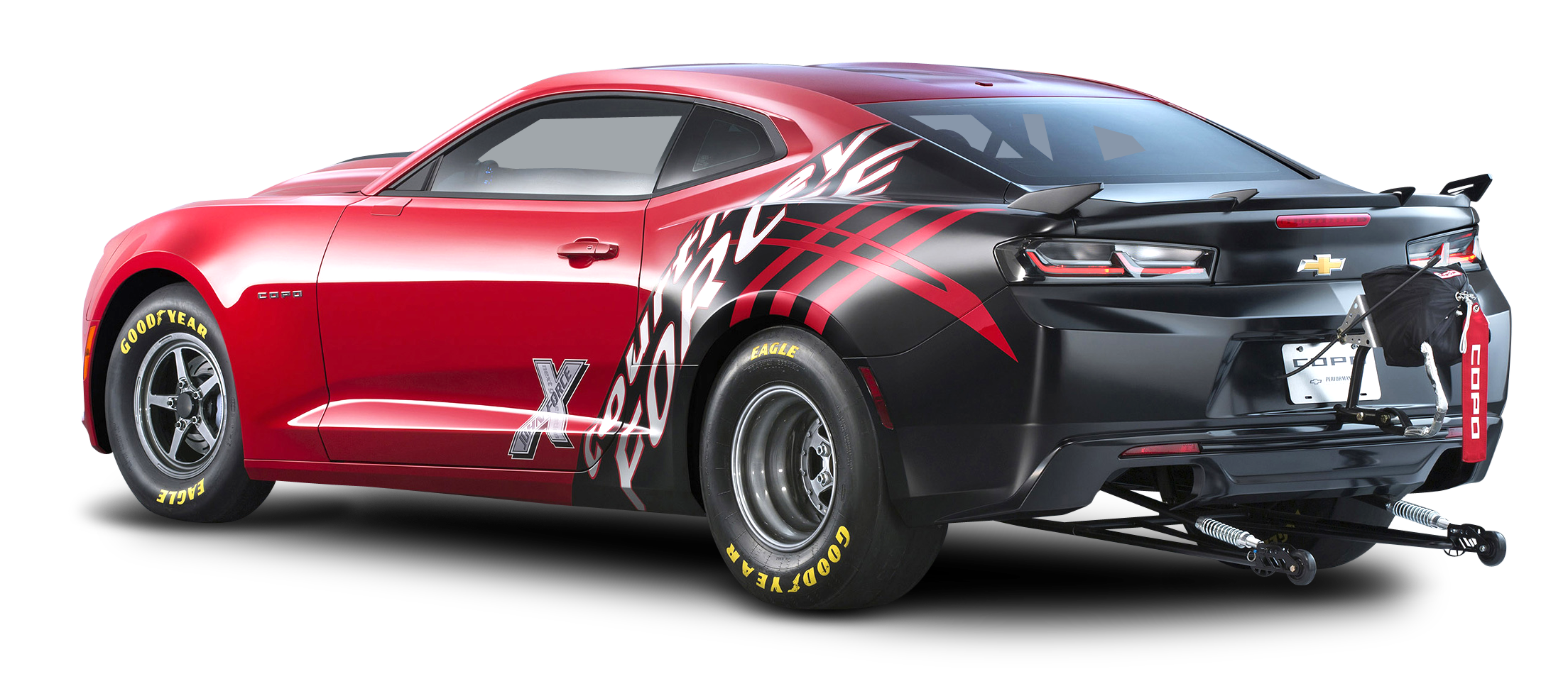 Chevrolet Copo Camaro Red Car Back