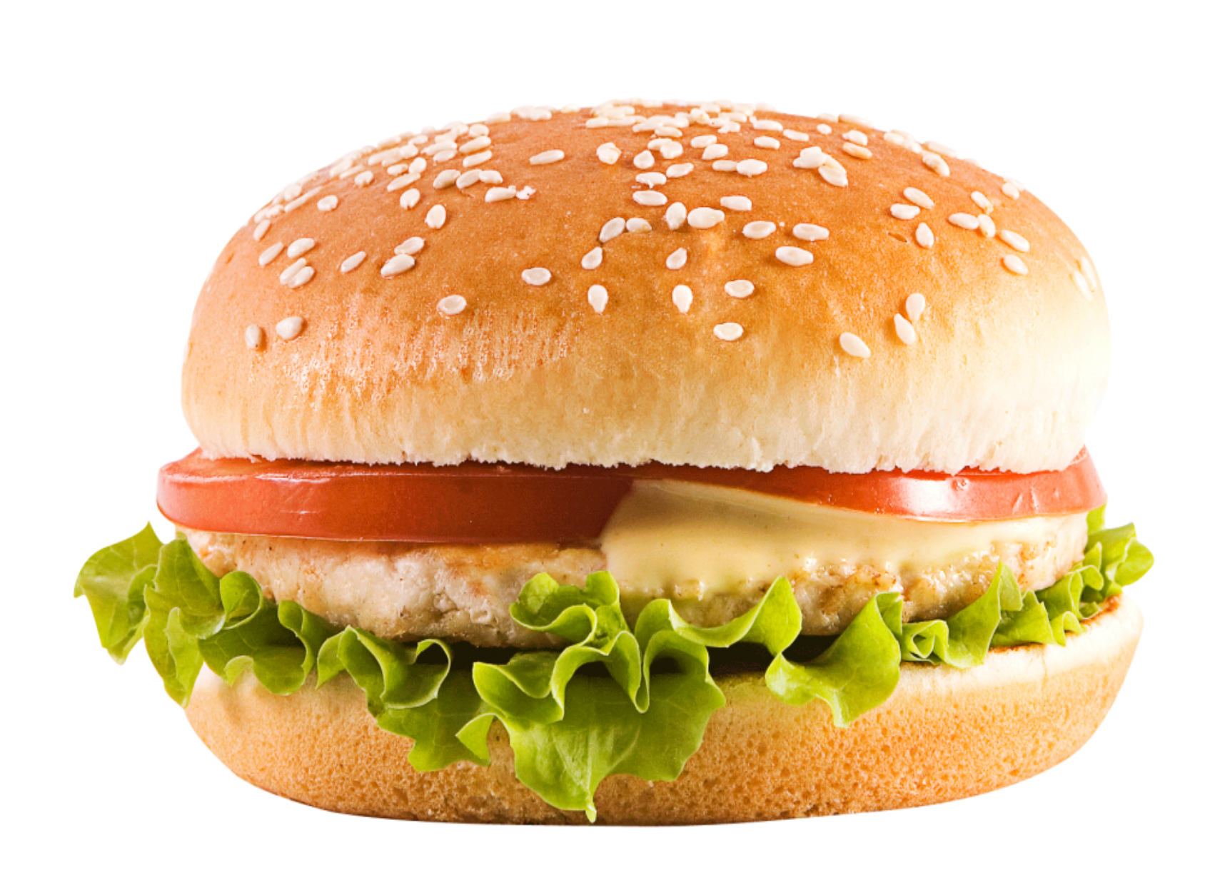 Chicken Cheeseburger PNG Image