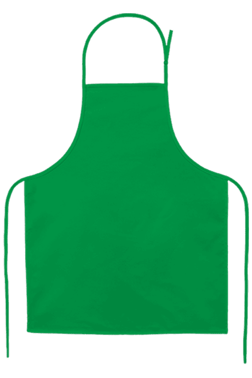 Child's Apron Small Kelly Green PNG Image