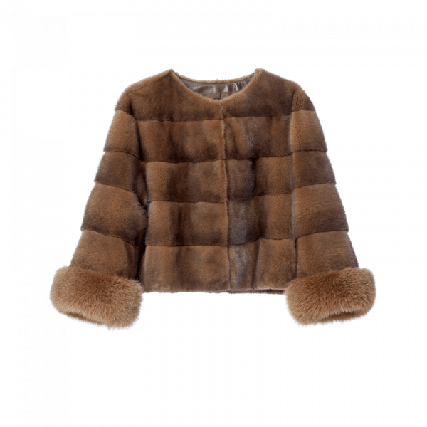 Chloe Sudan Front Fur Coat PNG Image