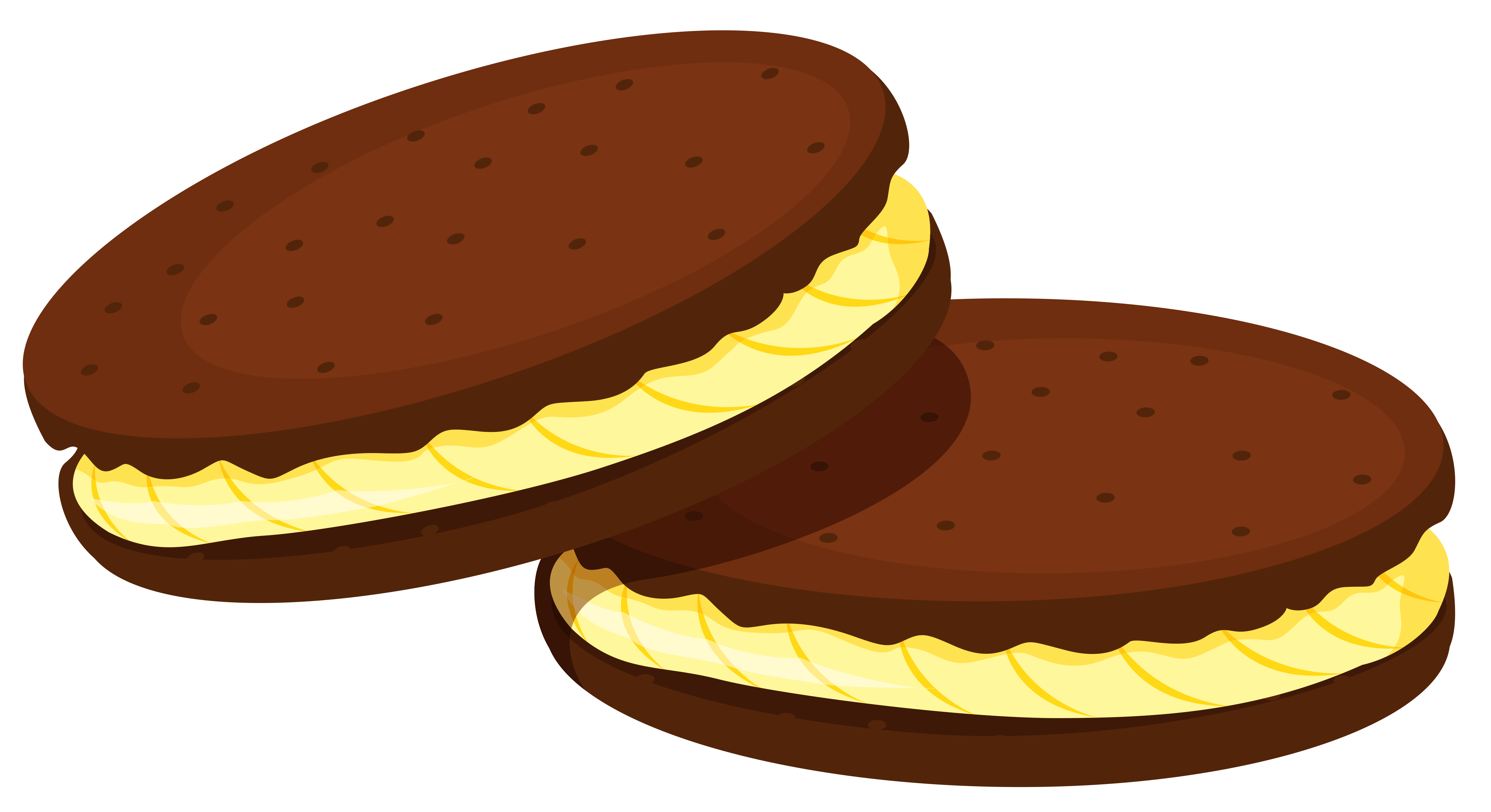 Chocolate Cookies with filling Clipart