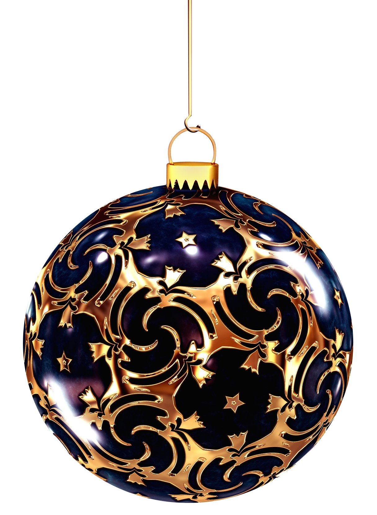 Christmas Bauble with Ornaments PNG Image