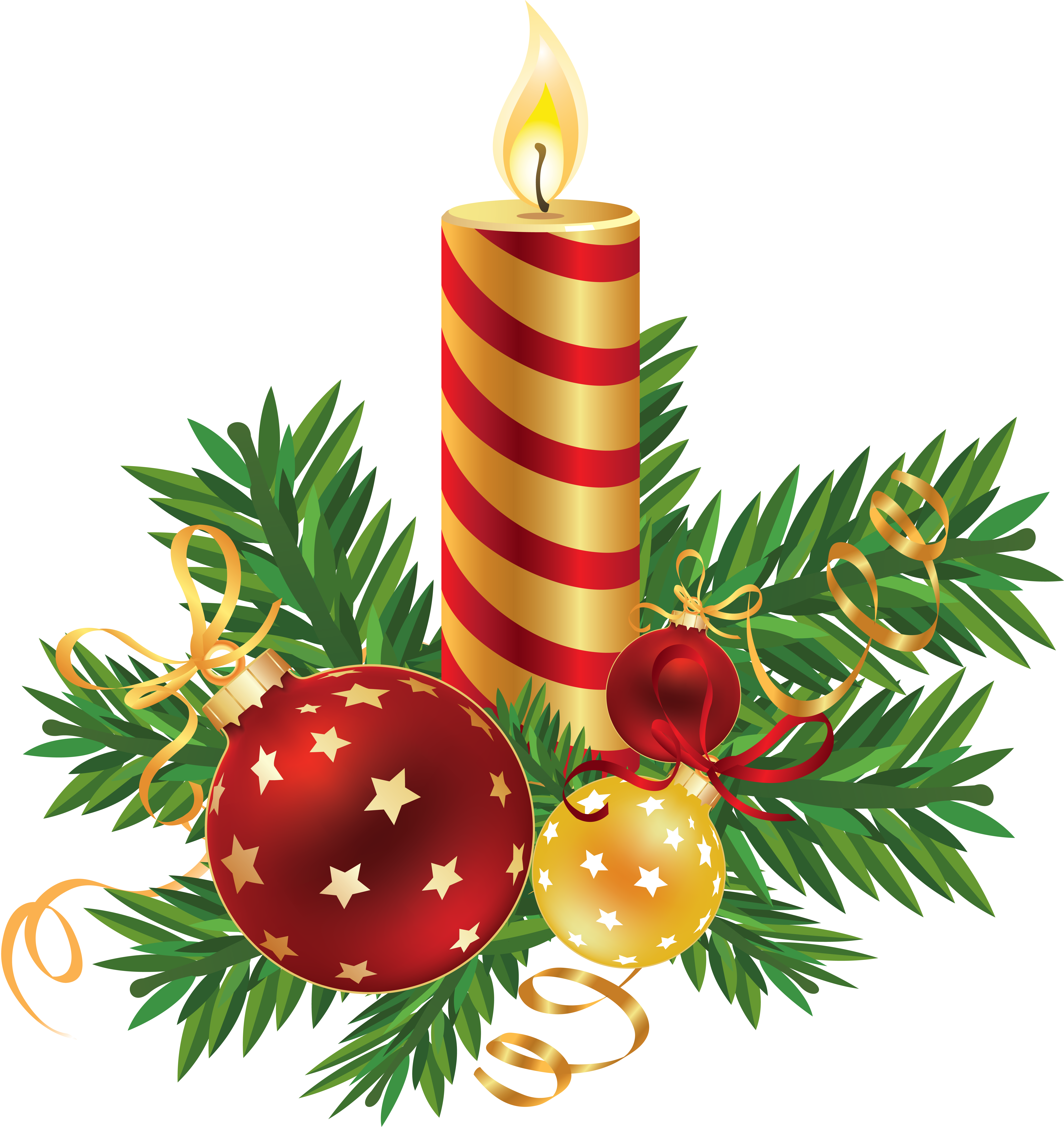 Christmas Decorations Background Pictures: Christmas Candle PNG Image - PurePNG