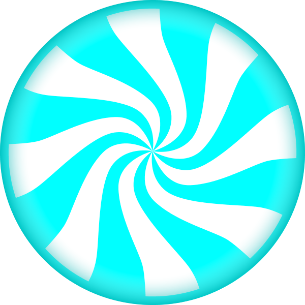 Blue Striped Lollipop PNG Image