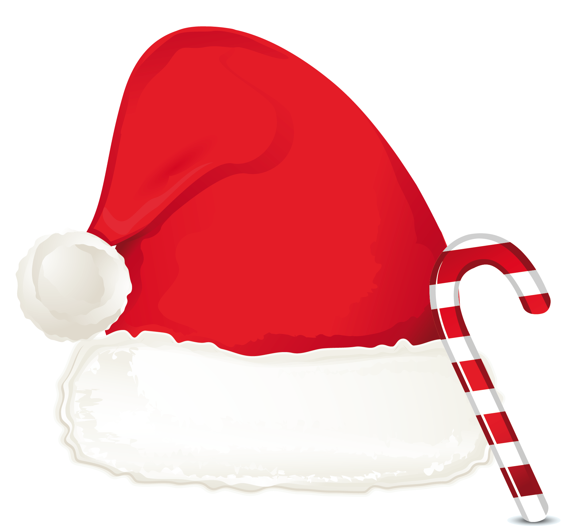 Christmas Hat with Candy Cane PNG Image