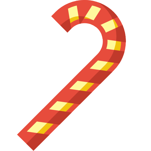 Striped Christmas Candy PNG Image