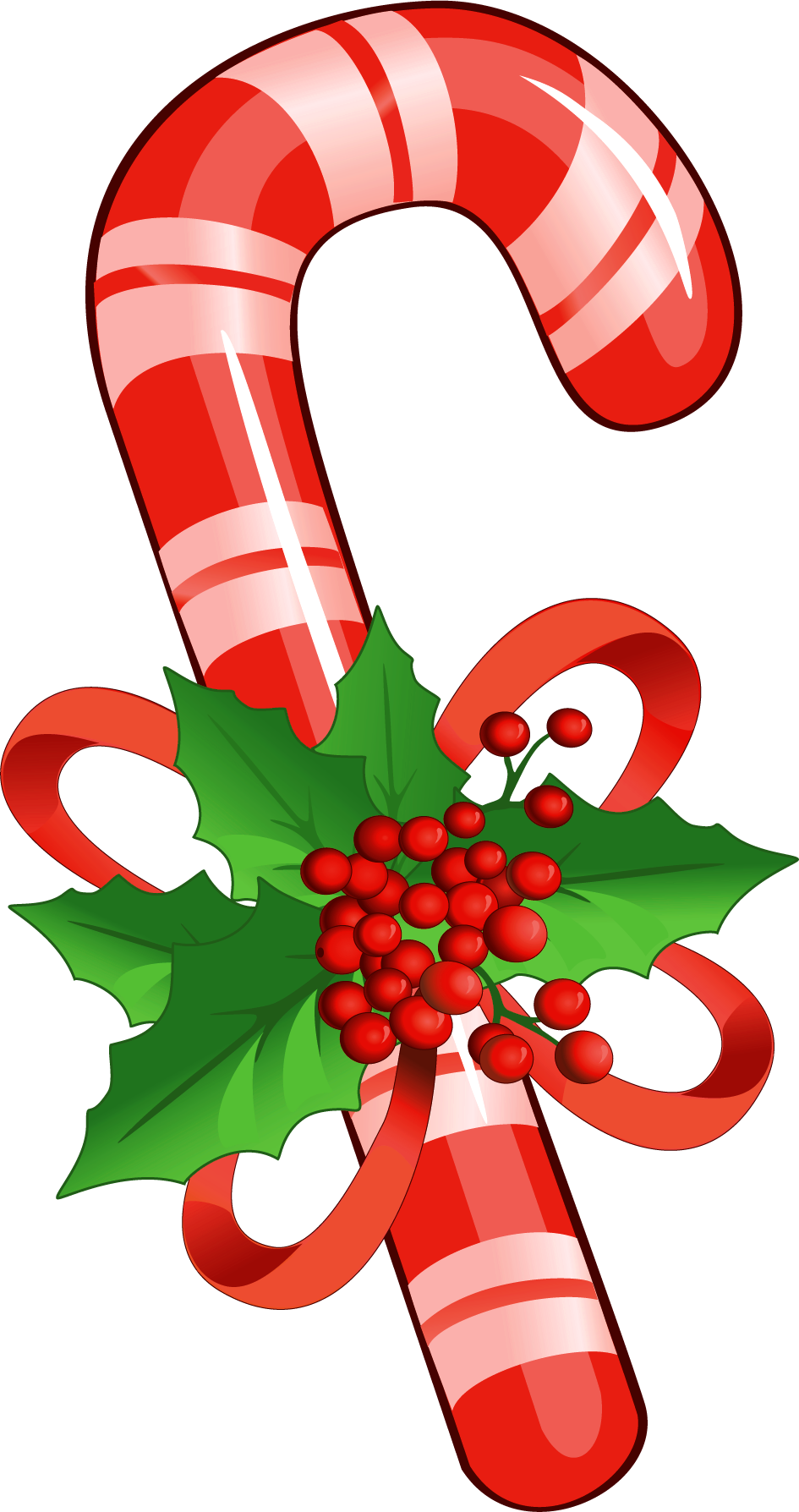Christmas Candy Cane PNG Image