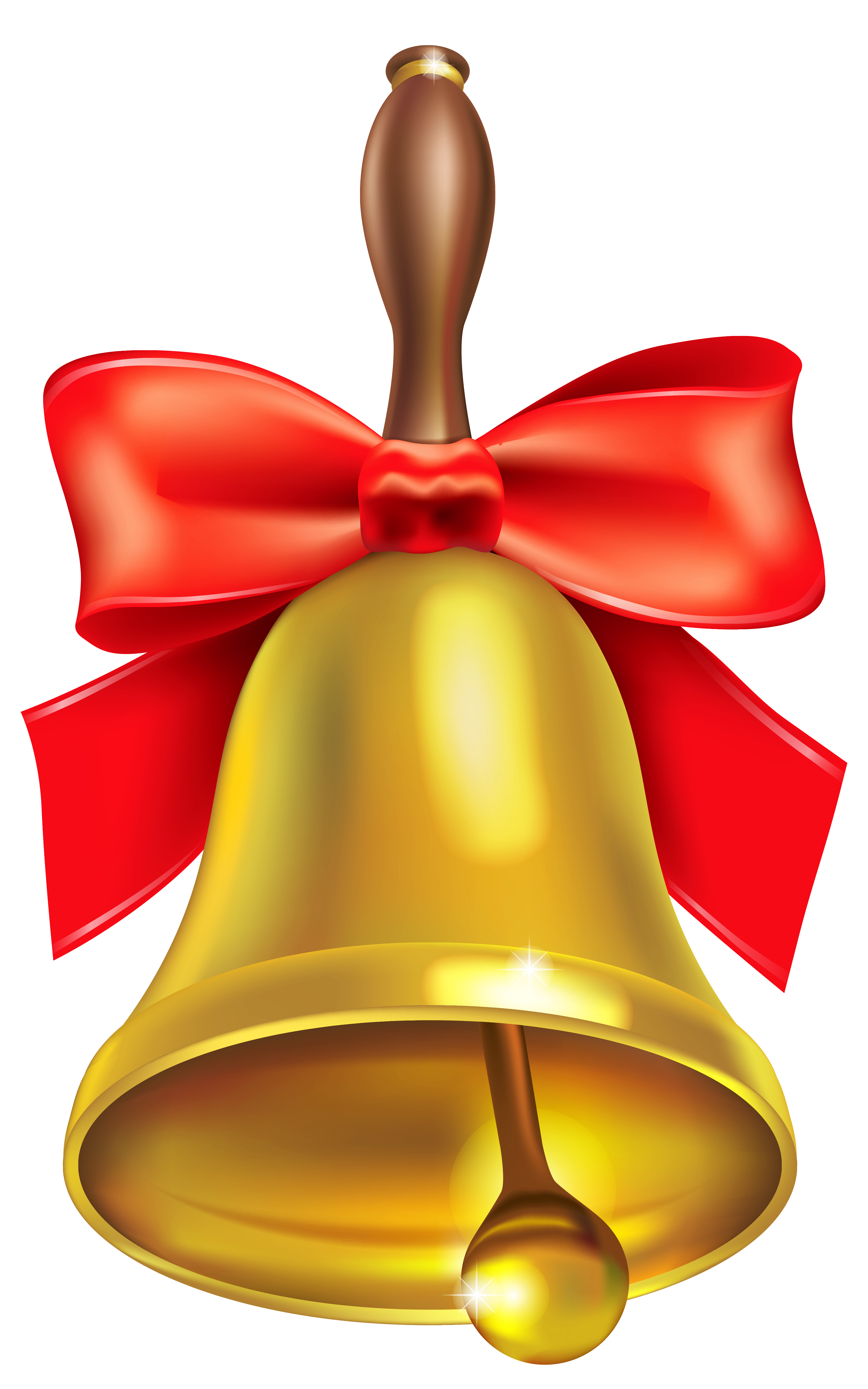 Christmas Bell with Bow PNG Image
