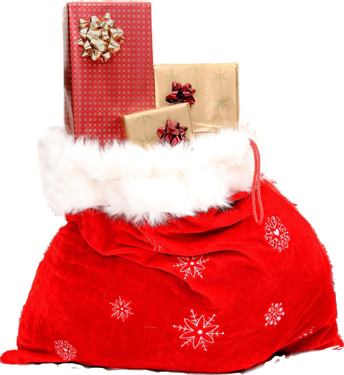 Christmas Sack with Gifts PNG Image