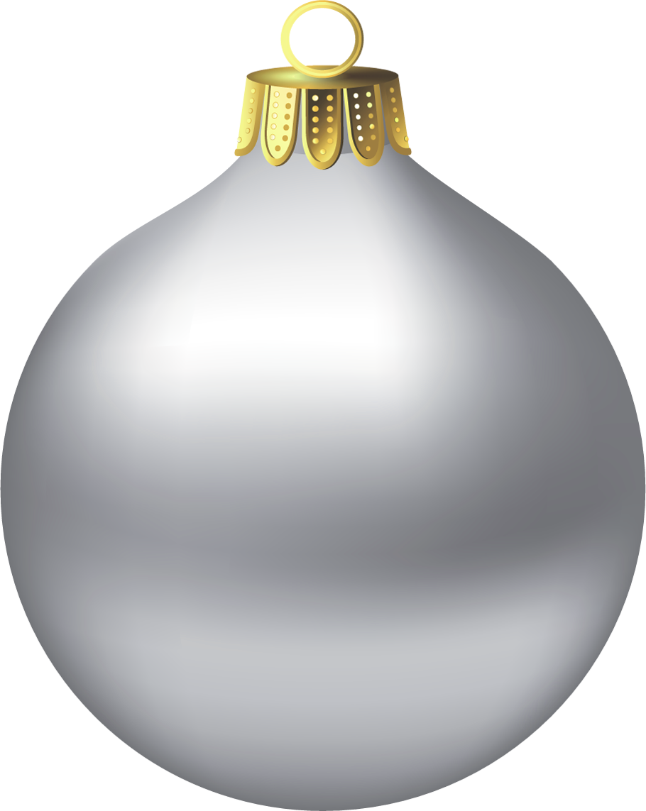 Christmas Silver Ornamen