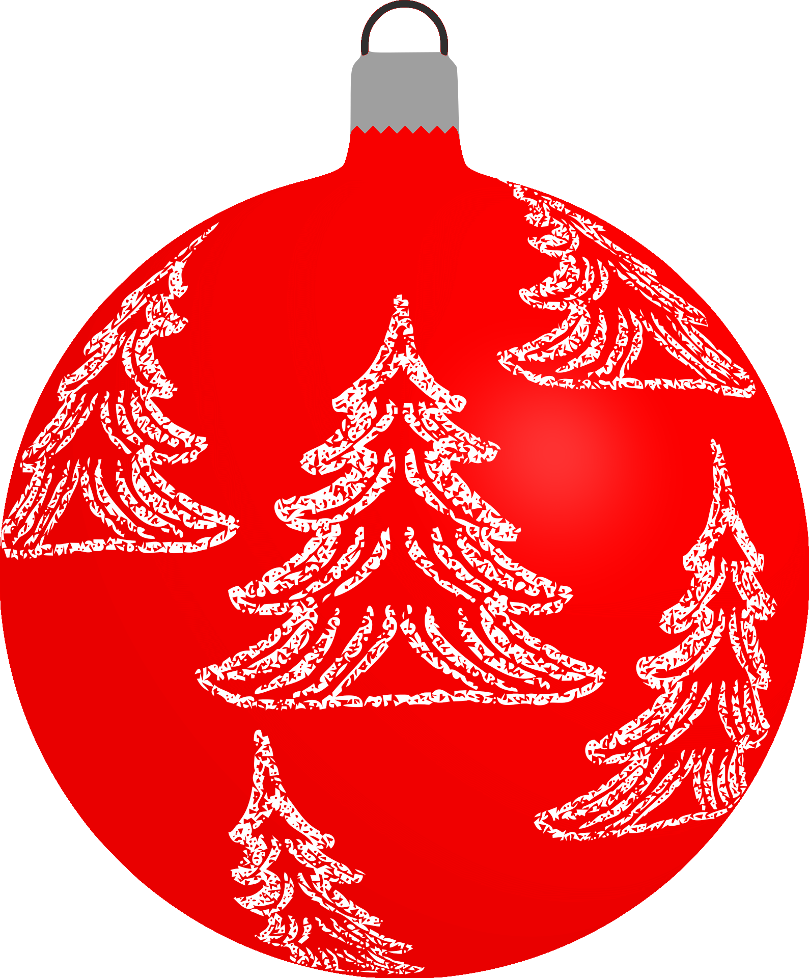 Christmas Bauble with Christmas Trees PNG Image