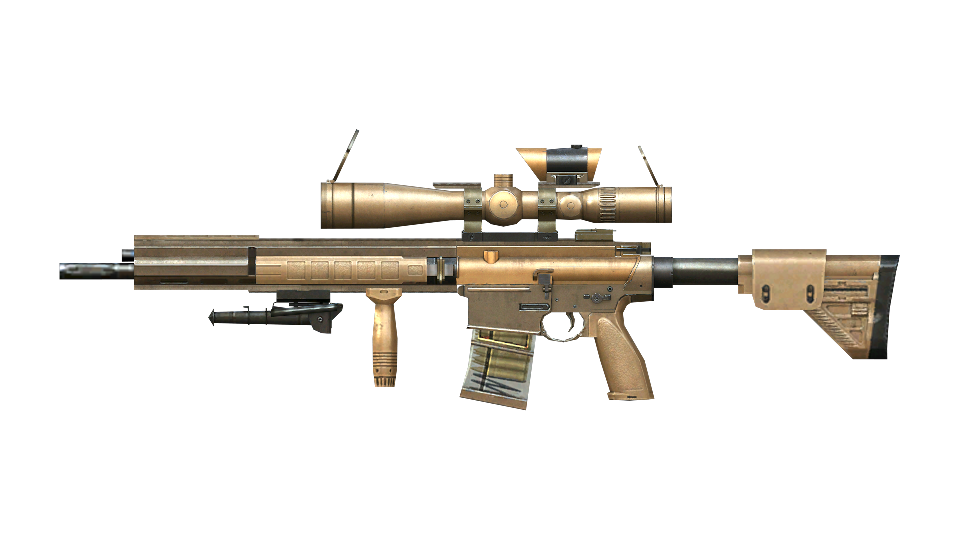 Chrome Sniper with scope