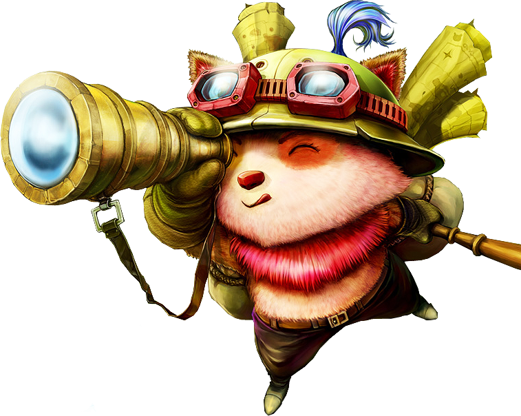 Classic Old teemo scout Splashart PNG Image