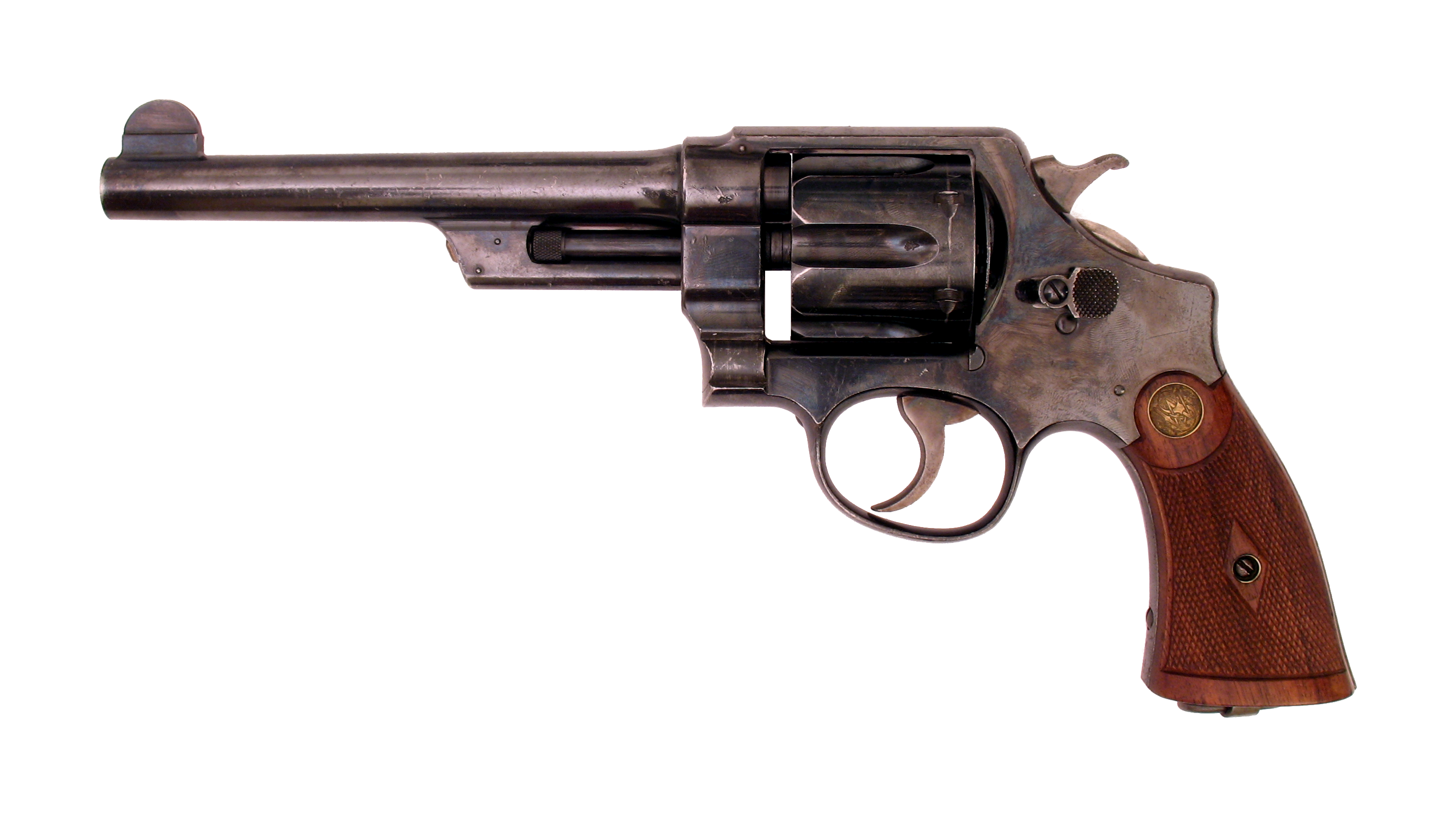 Classic Western Revolver PNG Image