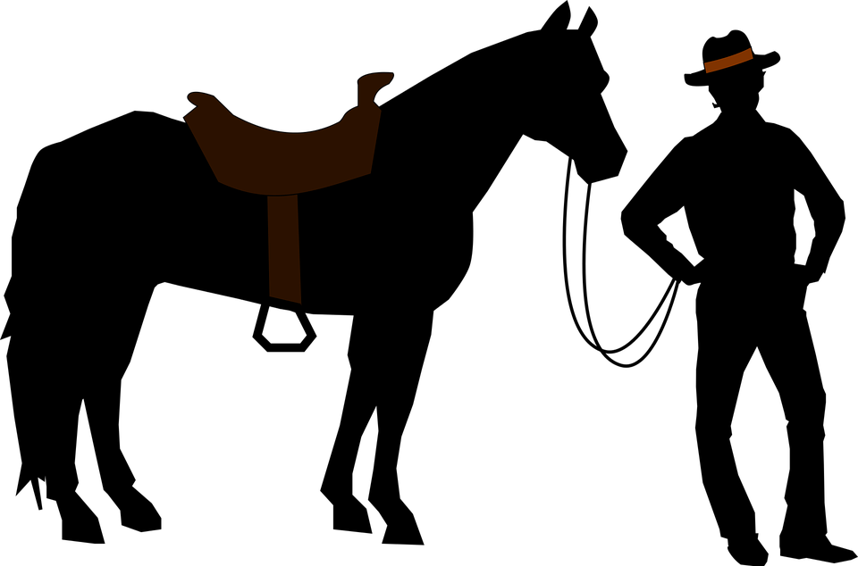 Cowboy Silhouette PNG Image