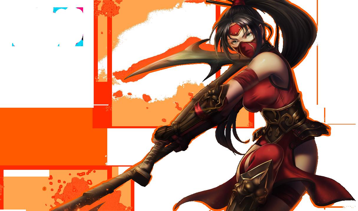 Crimson Akali Splashart Updated PNG Image