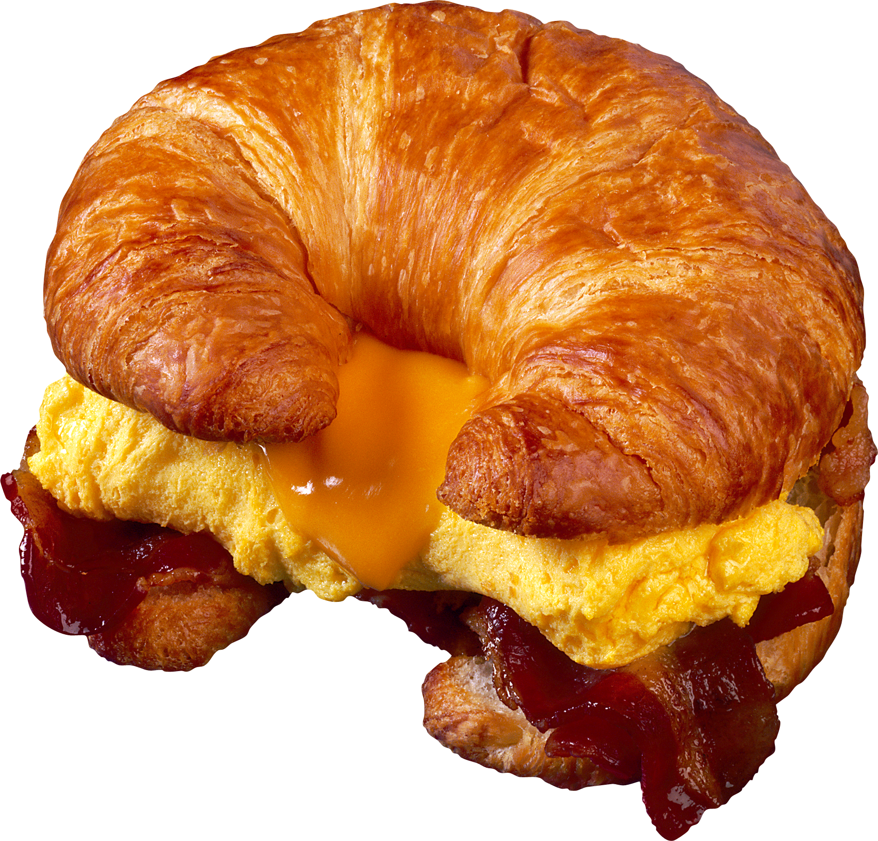 Croissant with omellette PNG Image