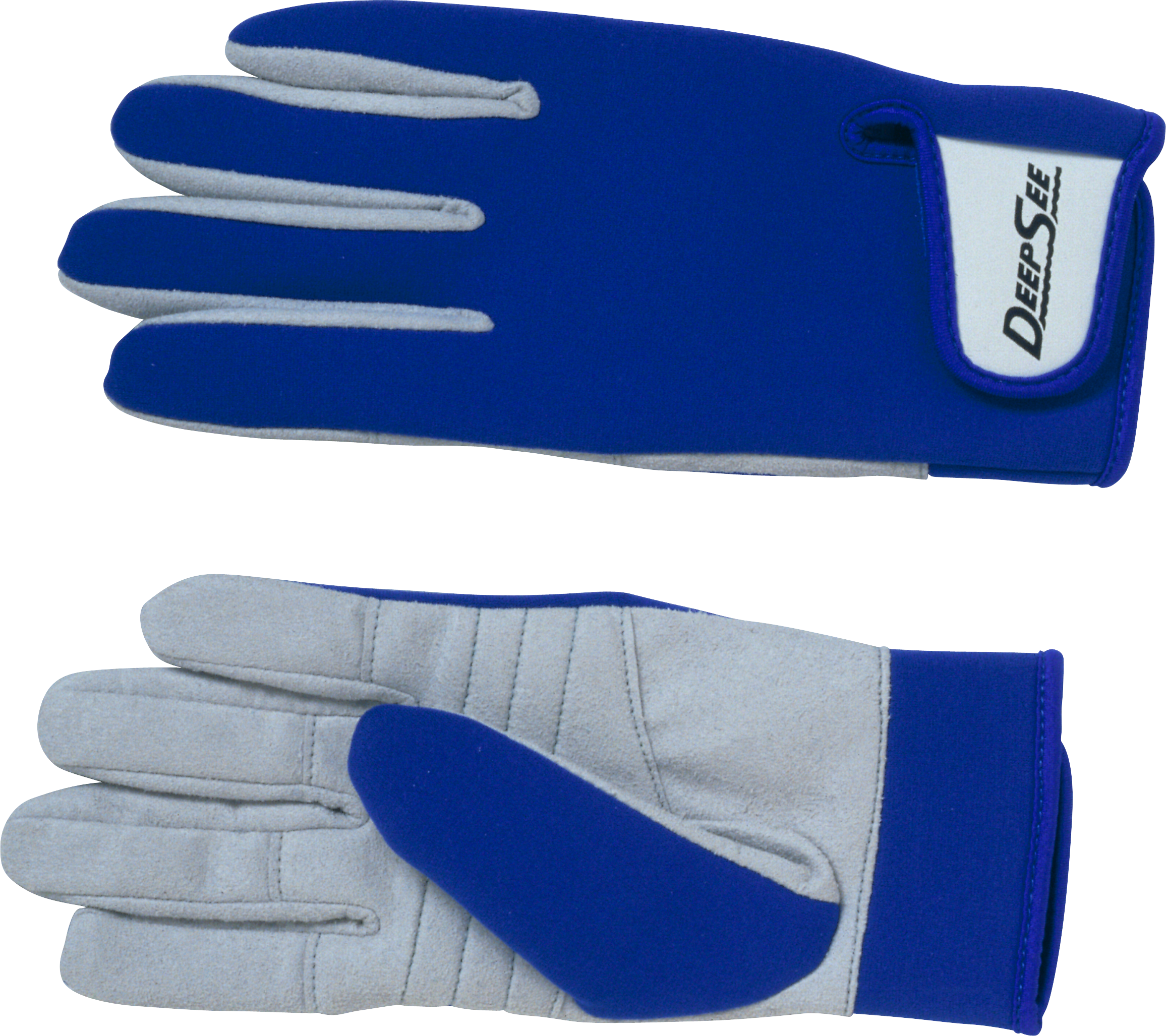 Deep See Blue Gloves PNG Image
