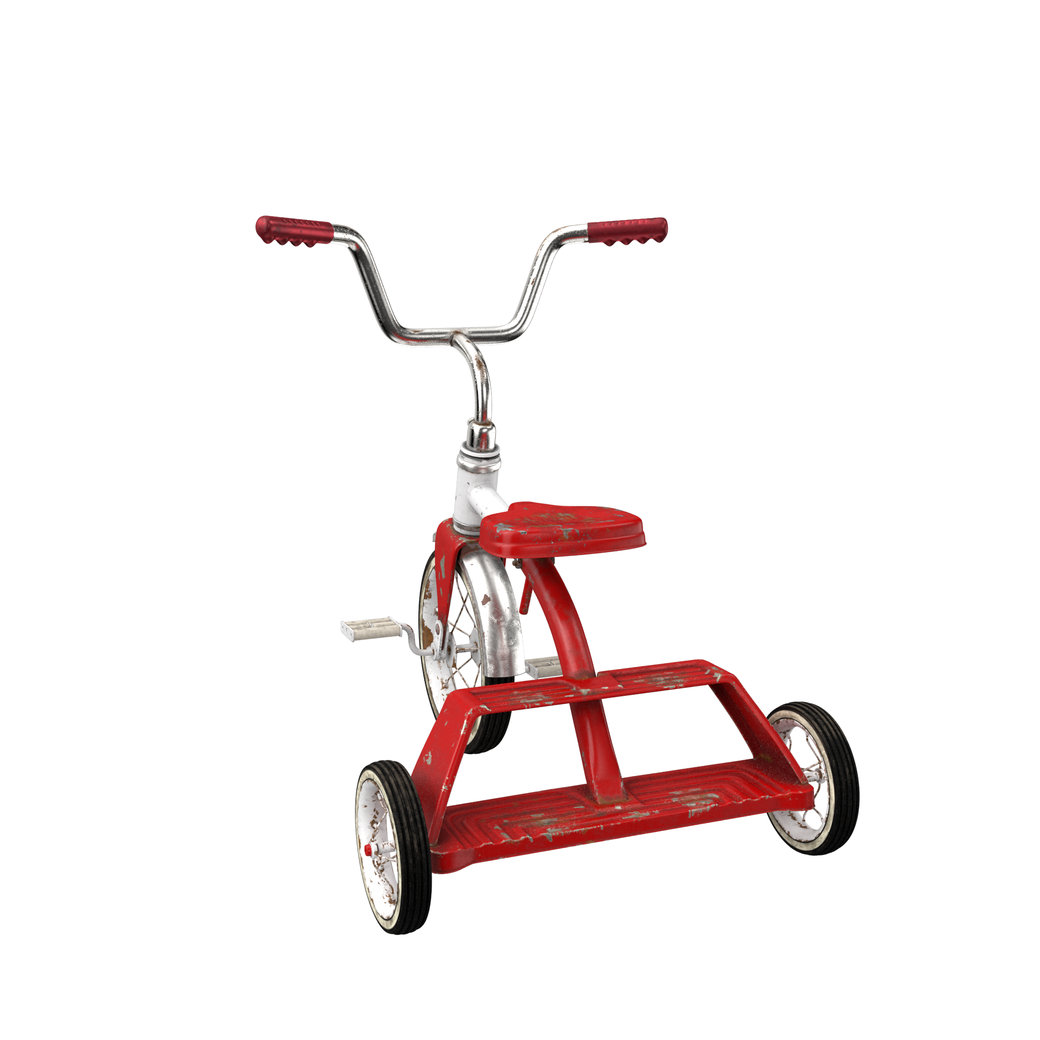 Dirty Vintage Tricycle PNG Image