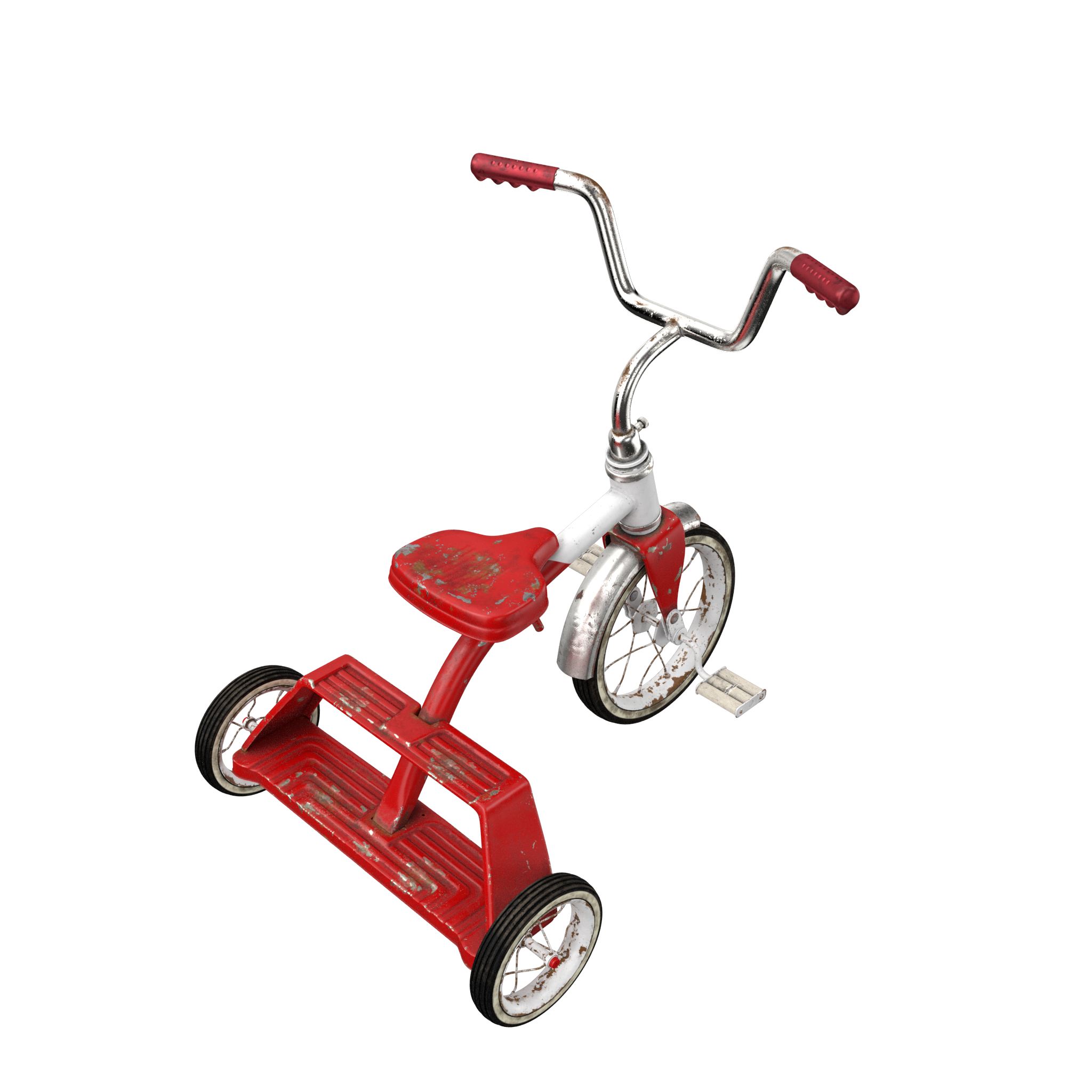 Dirty Vintage Tricycle PNG Image