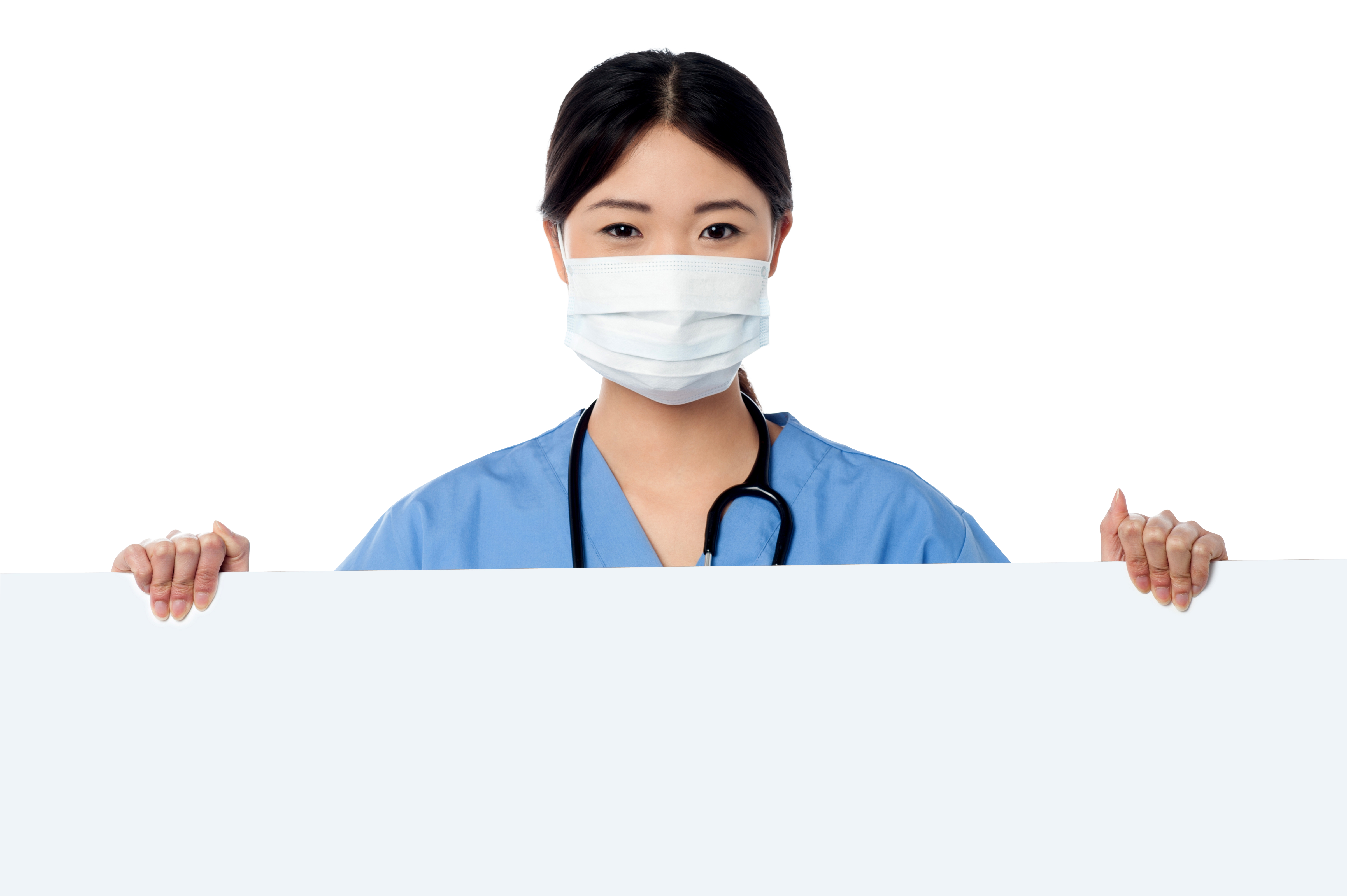 Doctor Holding Banner PNG Image