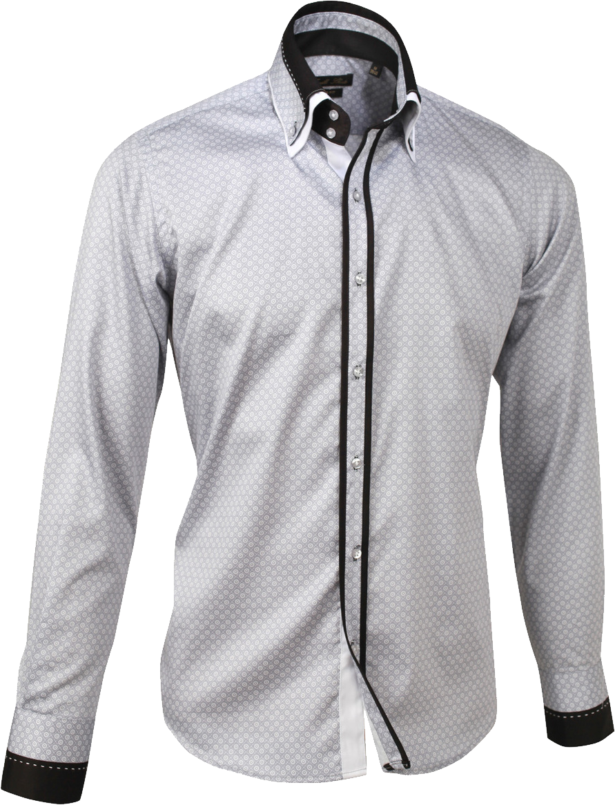 Dress Shirt Detachable collar PNG Image