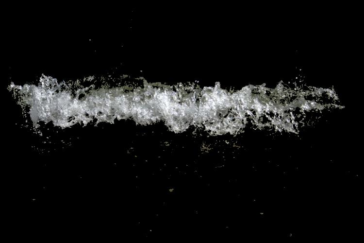 Dynamic splash water drops