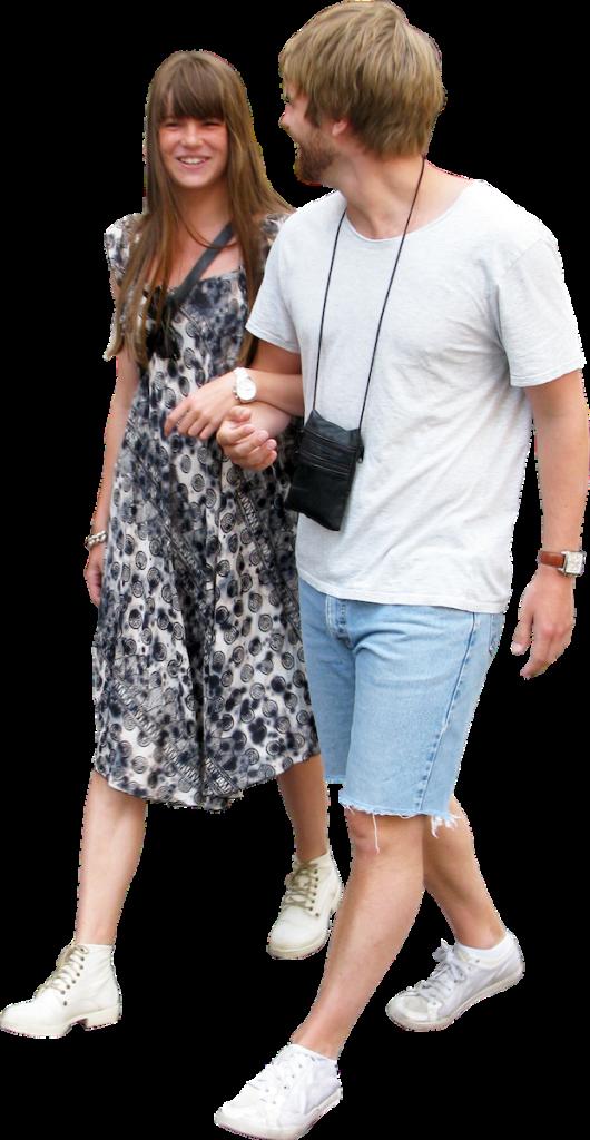 El Couple Walking