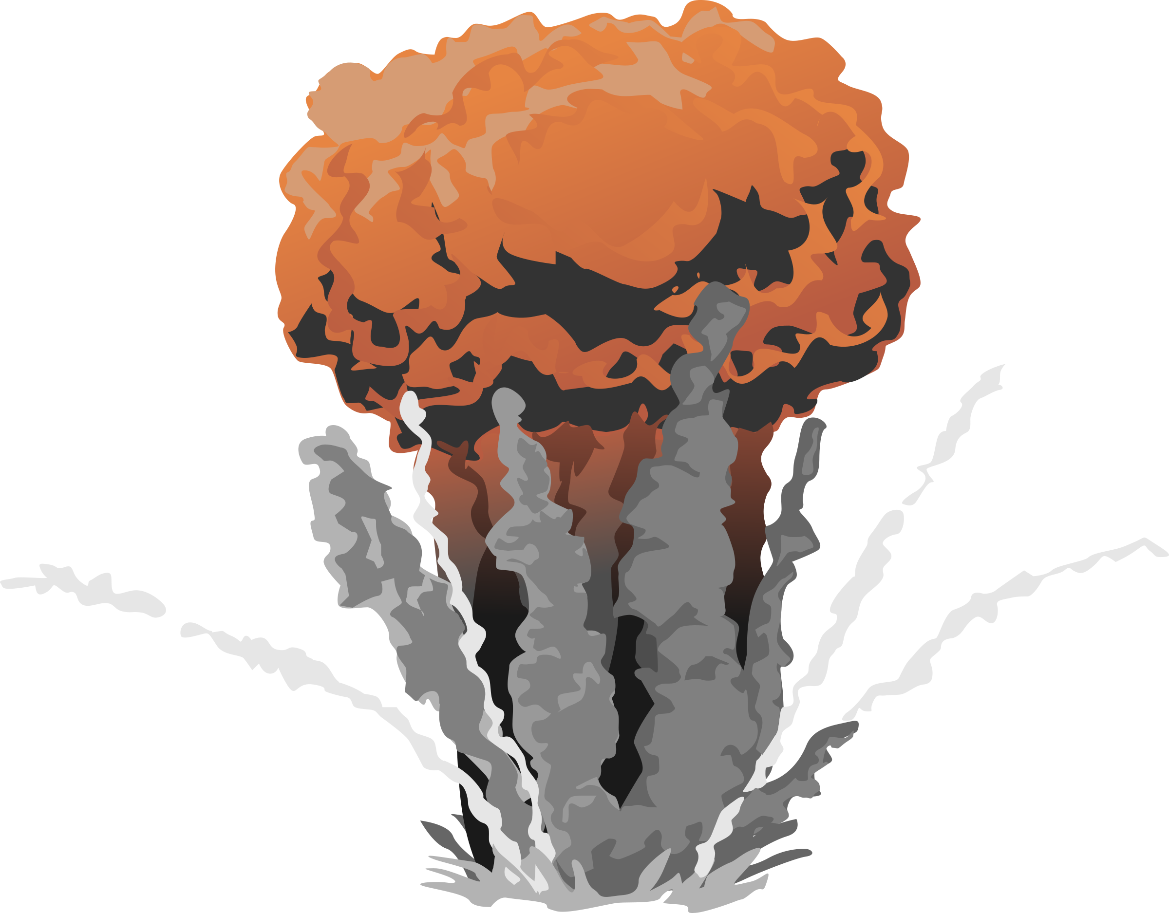 Fire Explosion with Smoke PNG Image