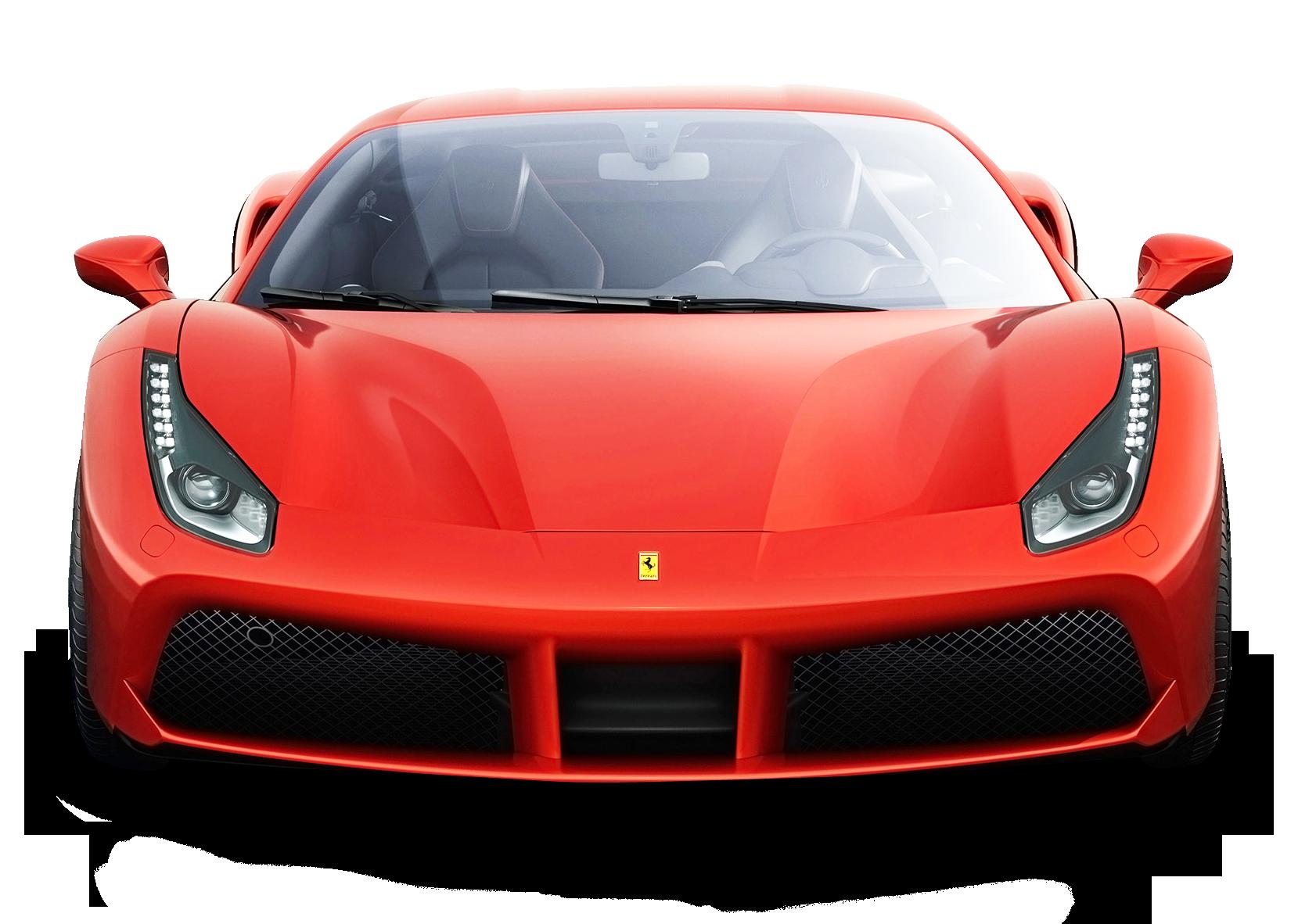 Ferrari 488 GTB Red Car PNG Image