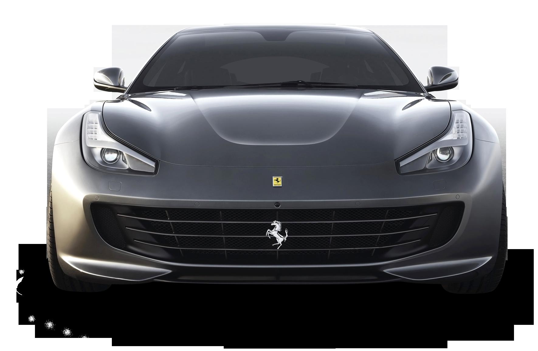 Ferrari GTC4 Lusso Front Gray Car