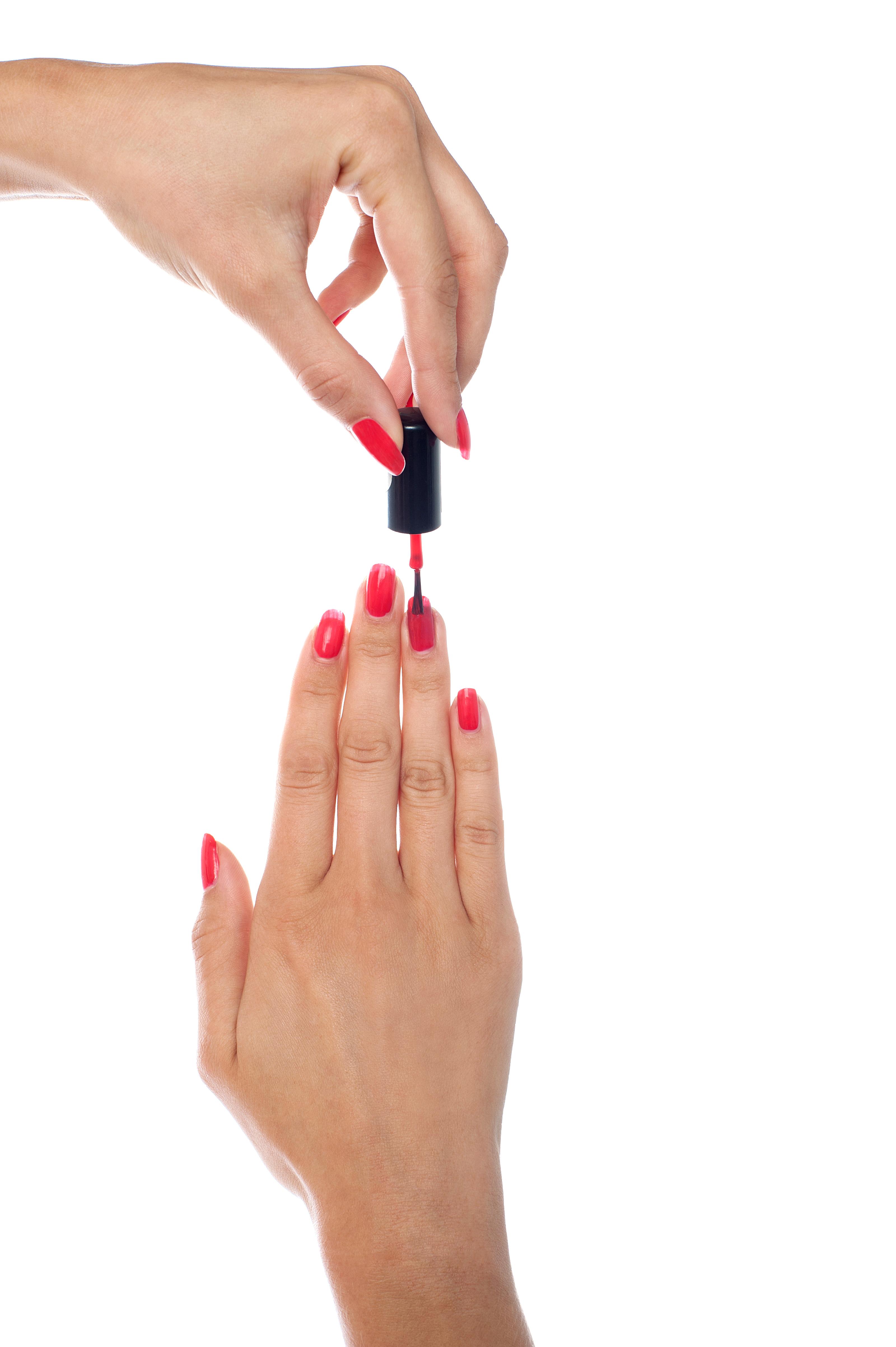 Finger Nail Paint PNG Image